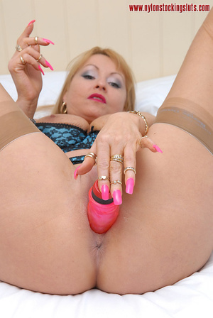 Thick pink dildo penetrating wet pussy o - XXX Dessert - Picture 14
