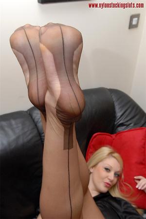 Blonde mature babe in exclusive stocking - XXX Dessert - Picture 11