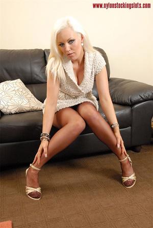 Blonde amateur hottie in super hot nylon - XXX Dessert - Picture 1
