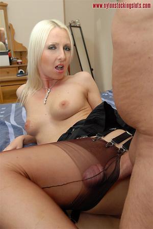 Nasty blonde milf in amazing pantyhose g - XXX Dessert - Picture 10