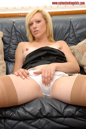 Horny mature blonde in tight nylons and  - XXX Dessert - Picture 14