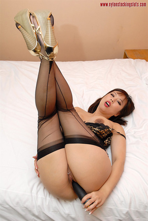 Big boobed amateur asian beauty in black - XXX Dessert - Picture 14