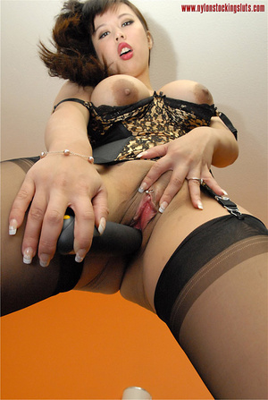Big boobed amateur asian beauty in black - XXX Dessert - Picture 15