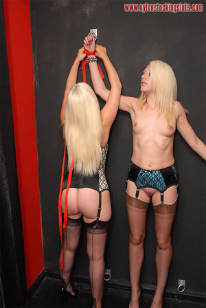 Two amateur blonde babes in black stay u - XXX Dessert - Picture 4