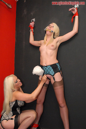 Two amateur blonde babes in black stay u - XXX Dessert - Picture 12