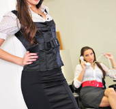 Sexy brunette office babe Georgia Jones