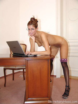 Naughty office babe Lucky naked in stock - XXX Dessert - Picture 9