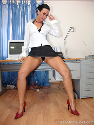 Secretary Simone strips in the office in - XXX Dessert - Picture 1