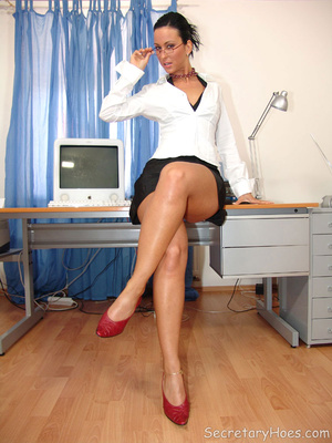 Secretary Simone strips in the office in - XXX Dessert - Picture 2