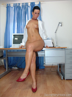 Secretary Simone strips in the office in - XXX Dessert - Picture 12