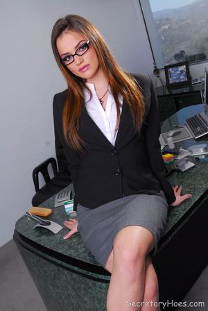 Hot office babe Tori Black in a sexy sec - XXX Dessert - Picture 2