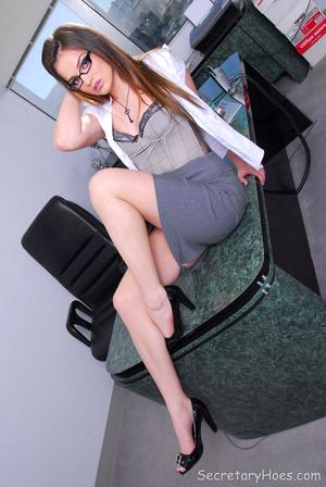 Cute secretary Tori Black strips in the  - XXX Dessert - Picture 2