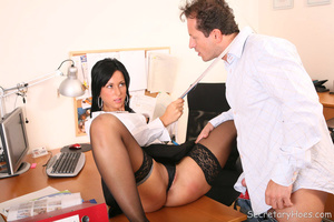 Leggy office slut Iris fucking her boss  - XXX Dessert - Picture 3