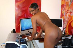 Naughty black girl amateur secretary - XXX Dessert - Picture 15