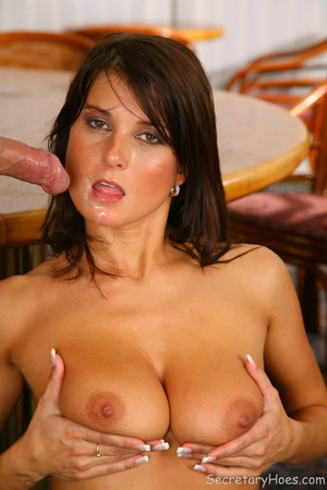 Brunette office secretary Kate Jones suc - XXX Dessert - Picture 14