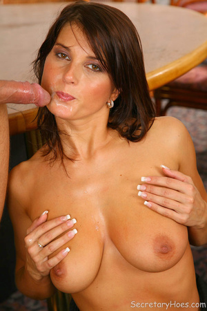 Brunette office secretary Kate Jones suc - XXX Dessert - Picture 15