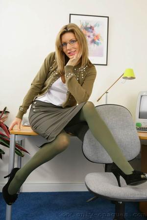 Stunning blonde Nicole in secretary outf - XXX Dessert - Picture 2