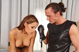 Young slim Satin Bloom gets bound and ex - XXX Dessert - Picture 1