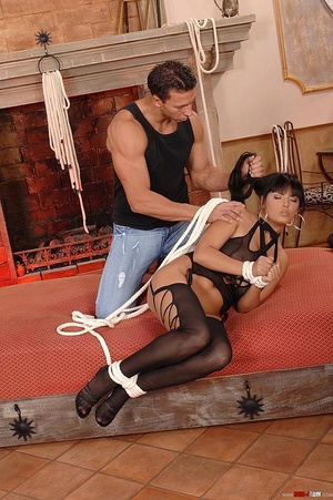 Beautiful Jasmine Black bound and fucked - XXX Dessert - Picture 5