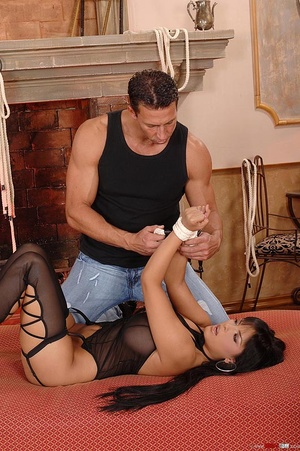 Beautiful Jasmine Black bound and fucked - XXX Dessert - Picture 6