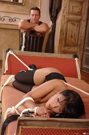 Beautiful Jasmine Black bound and fucked - XXX Dessert - Picture 11