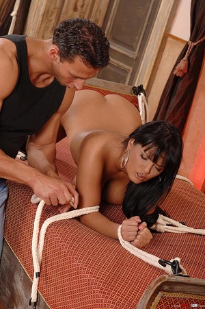 Beautiful Jasmine Black bound and fucked - XXX Dessert - Picture 16