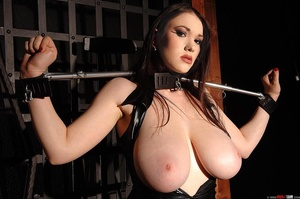Busty beauty Anna Song tied up and restr - Picture 3