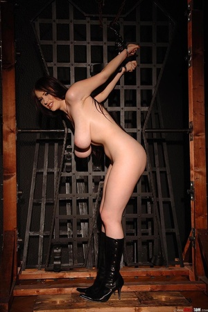 Busty beauty Anna Song tied up and restr - Picture 13