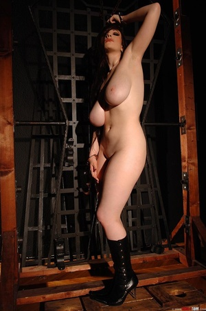 Busty beauty Anna Song tied up and restr - Picture 15