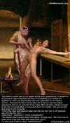 Sado cartoons. This time he had a young slave girl in his lair and was