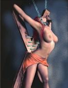 Bondage art. Slave on Sale!