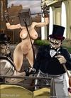 Horror comics. Big fat Master tortures his slave pony-girls!