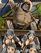 Bdsm cartoons. Slave girls doing their best just not to be whipped again!