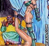Submission art. Come on slave, open your legs! Don't make me angry!