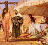Slave girl comics. Slave girl crucified in the desert and spanked by her