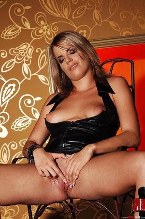 Hot blonde babe Lara pissing in glass in - XXX Dessert - Picture 11