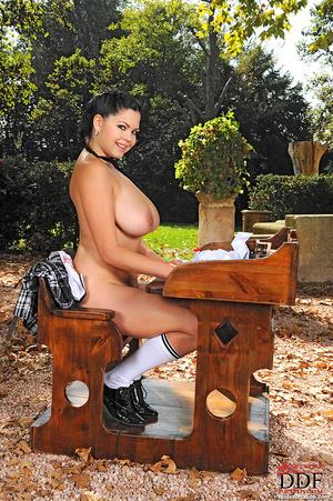 Schoolgirl Shione Cooper gets bound nake - XXX Dessert - Picture 12