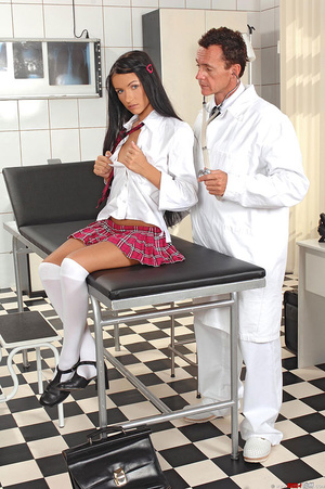 Schoolgirl Sasha Rose examined by devian - XXX Dessert - Picture 3