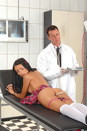 Schoolgirl Sasha Rose examined by devian - XXX Dessert - Picture 8
