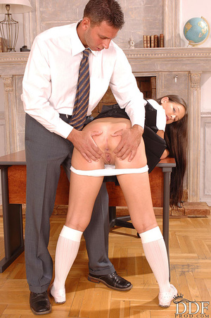 Yvette has hot anal sex in her school un - XXX Dessert - Picture 3