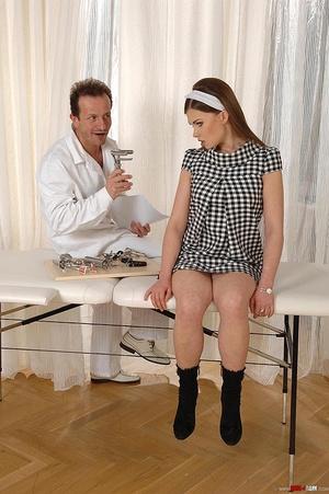 Innocent brunette girl gets examined in  - XXX Dessert - Picture 4