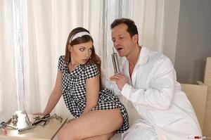 Innocent brunette girl gets examined in  - XXX Dessert - Picture 7