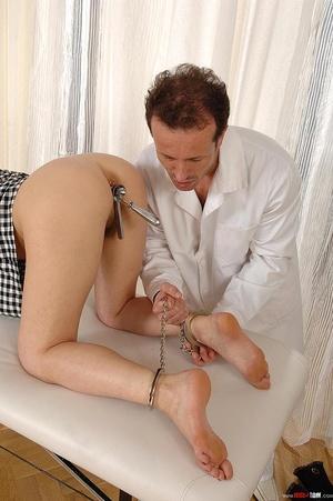 Innocent brunette girl gets examined in  - XXX Dessert - Picture 15