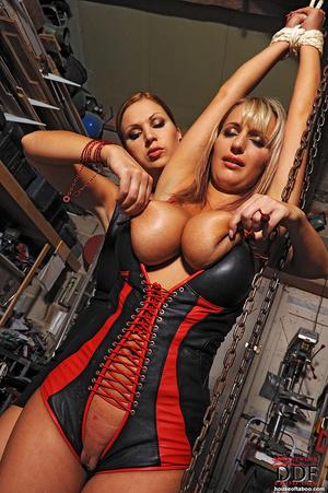 Lesbian babes Carol Jannete spanking in  - XXX Dessert - Picture 16