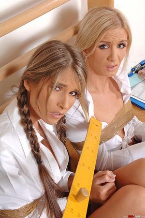 Bound lesbian schoolgirls Cameron Nessa  - XXX Dessert - Picture 5