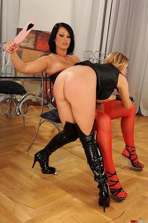 Kinky lesbians' hot bondage spanking act - XXX Dessert - Picture 8