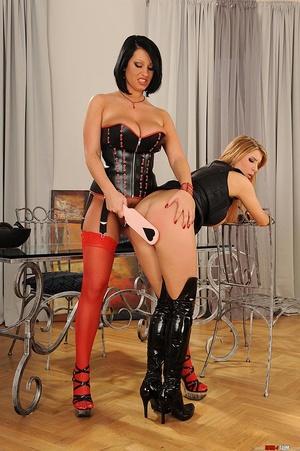 Kinky lesbians' hot bondage spanking act - XXX Dessert - Picture 9