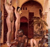 Bondage comics. No one gonna help white slave in the harem!