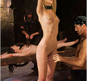 Bdsm comics. Old man fucks slave and his wife whips her!