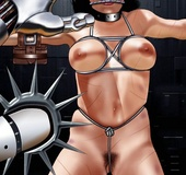 Adult bondage comics. Jason and his new slave Leah rest for the moment